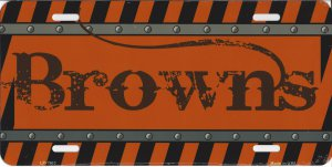 Cleveland Browns Construction License Plate