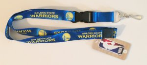 Golden State Warriors Blue Lanyard With Safety Latch