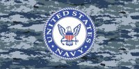 Navy Camouflage Photo License Plate