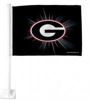 Georgia Bulldogs Black Car Flag