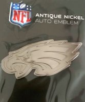 Philadelphia Eagles Antique Nickel Auto Emblem