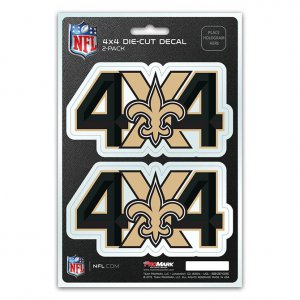 New Orleans Saints 4x4 Decal Pack