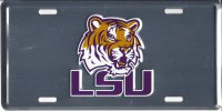 LSU Tigers Anodized License Plate
