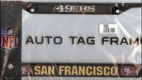 San Francisco 49'ers Black License Plate Frame