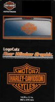 Harley-Davidson Orange Logo Cutz Rear Window Decal