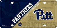 Pittsburgh Panthers Metal License Plate