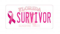 Florida Breast Cancer Survivor Photo License Plate