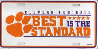 Clemson Tigers Best Is The Standard Metal License Plate