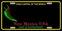 New Mexico Blank Black State Metal License Plate