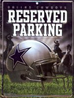 Dallas Cowboys Metal Reserved Parking Sign
