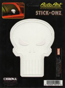 Punisher White Vinyl Decal