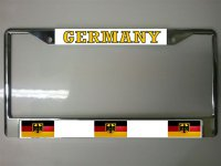 German Flag Photo License Plate Frame