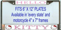 Hello Kitty License Plate Frame