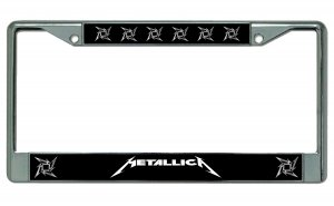 Metallica Chrome License Plate Frame