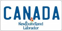 Newfoundland Labrador Canada Photo License Plate