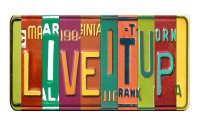 LIVEITUP Cut Style Metal Art License Plate