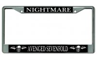 "Avenged Sevenfold ""Nightmare"" Chrome License Plate Frame"