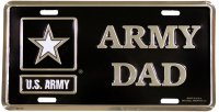 Army Dad Metal License Plate