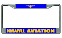 Naval Aviation Chrome License Plate Frame