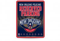New Orleans Pelicans Metal Parking Sign