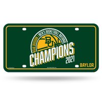 Baylor Bears 2021 National Champs Metal License Plate