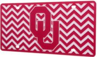 Oklahoma Sooners Chevron Laser License Plate