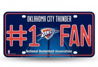 Oklahoma City Thunder #1 Fan Glitter License Plate