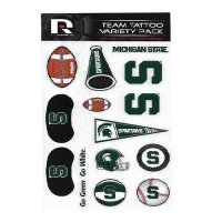 Michigan State Spartans Variety Pack Tattoo Set