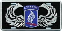 173rd Airborne License Plate