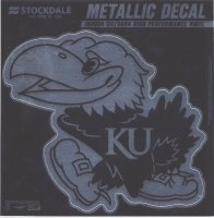 Kansas Jayhawks Chrome Vinyl Decal