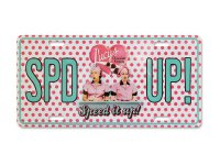 I Love Lucy Chocolate SPD UP Metal License Plate