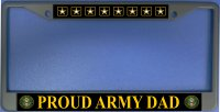 Proud Army Dad Photo License Plate Frame