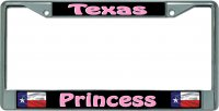 Texas Princess Chrome License Plate Frame