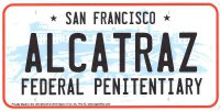 Alcatraz Prison Metal License Plate