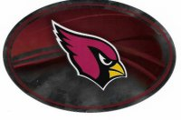 Arizona Cardinals Chrome Die Cut Oval Decal
