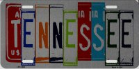 Tennessee Cut Style Metal License Plate