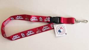 St. Louis Cardinals Red Lanyard With Safety Fastener