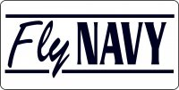Fly Navy Photo License Plate