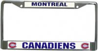 Montreal Canadiens Chrome License Plate Frame