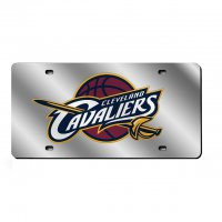 Cleveland Cavaliers Silver Laser License Plate