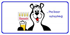 Hamm's The Beer Refreshing Photo License Plate