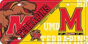 Maryland Terrapins Metal License Plate