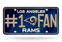 Los Angeles Rams #1 Fan Metal License Plate