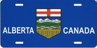 Alberta Canada Flag Photo License Plate