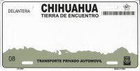 Chihuahua Mexico Look A Like Metal License Plate