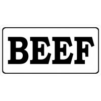 Beef Photo License Plate
