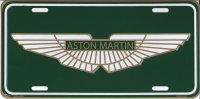 Aston Martin Embossed License Plate