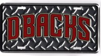 Arizona Diamondbacks Diamond Plate License Plate