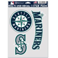 Seattle Mariners 3 Fan Pack Decals