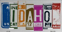 Idaho Cut Style Metal License Plate